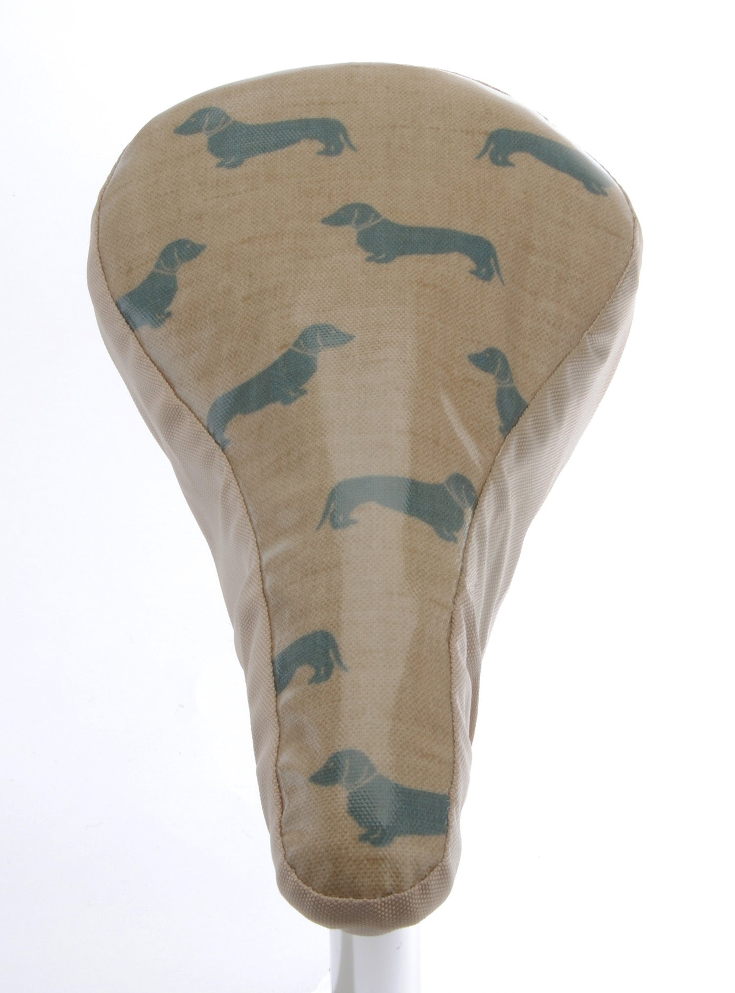 Dachshunds II Waterproof Saddle Cover - Beige