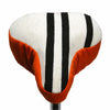 Tigger Saddle Cover - B&W Stripes on Orange