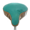 Tonic Saddle Cover - Turquoise & Beige Leather