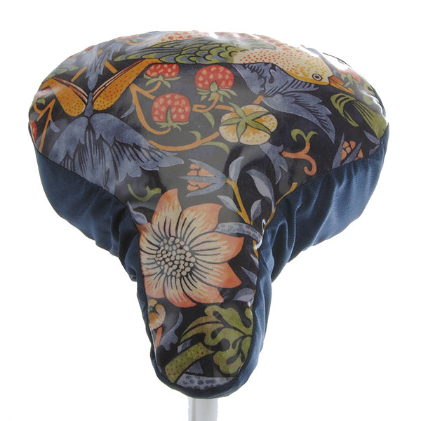 Wililam Morris Waterproof Saddle Cover - Dark Blue