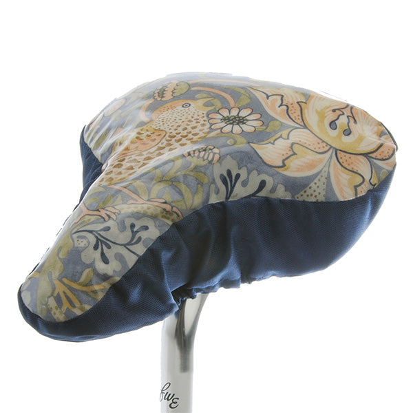 Wililam Morris Waterproof Saddle Cover - Blue