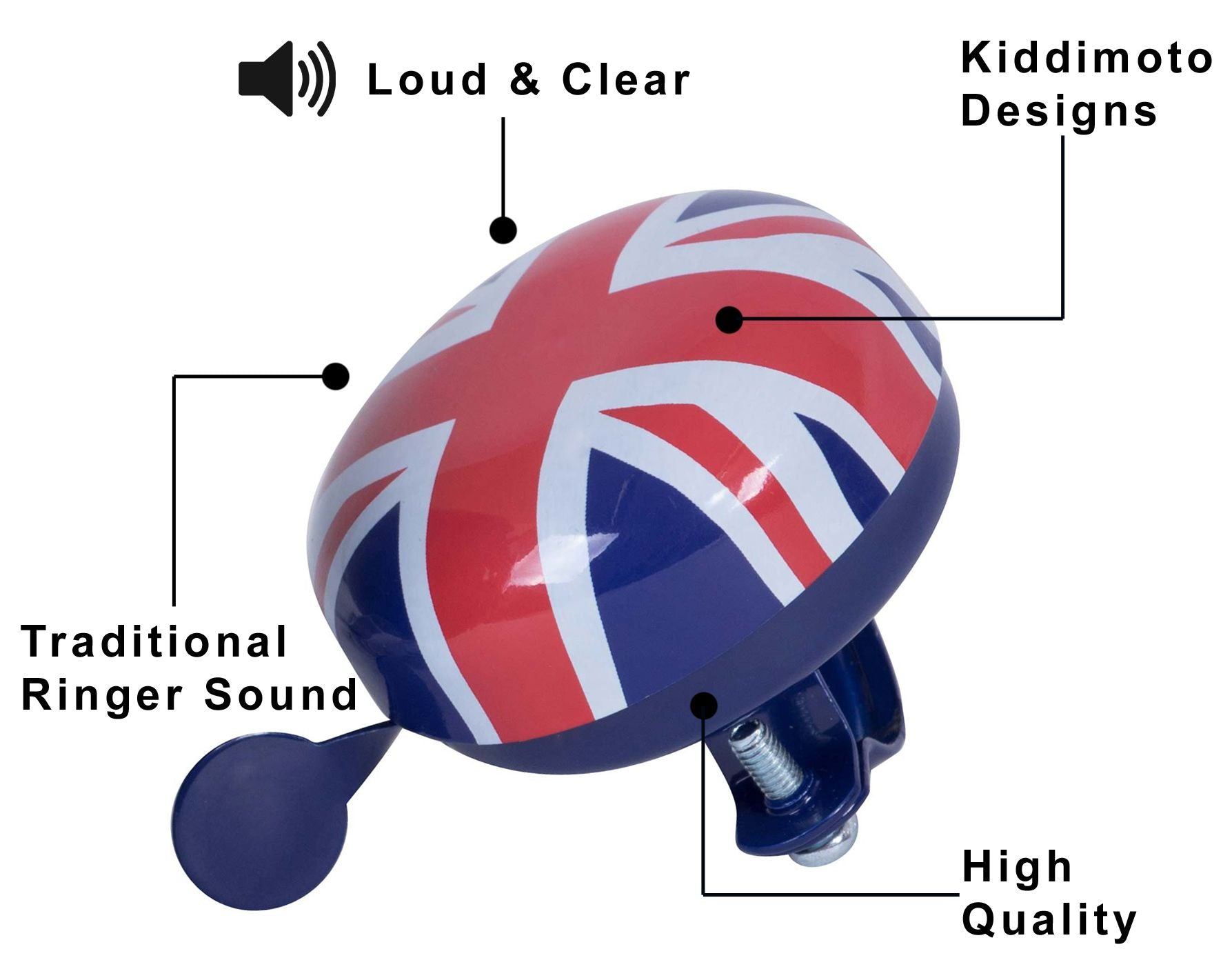 Kids Bicycle Bells - Union Jack
