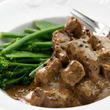 Beef in Peppercorn Sauce