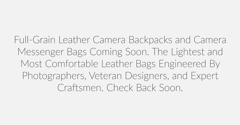 Leather Camera Bags, Leather Camera Messenger Bags