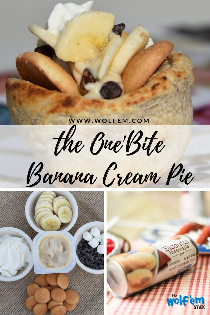 Tasty Campfire Treat:  One Bite Banana Cream Pie