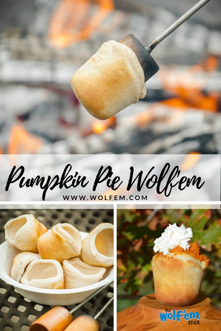 Pumpkin Pie Wolf'em.  Tasty, easy, healthy , fun Wolf'em Stick recipe for family, friends.