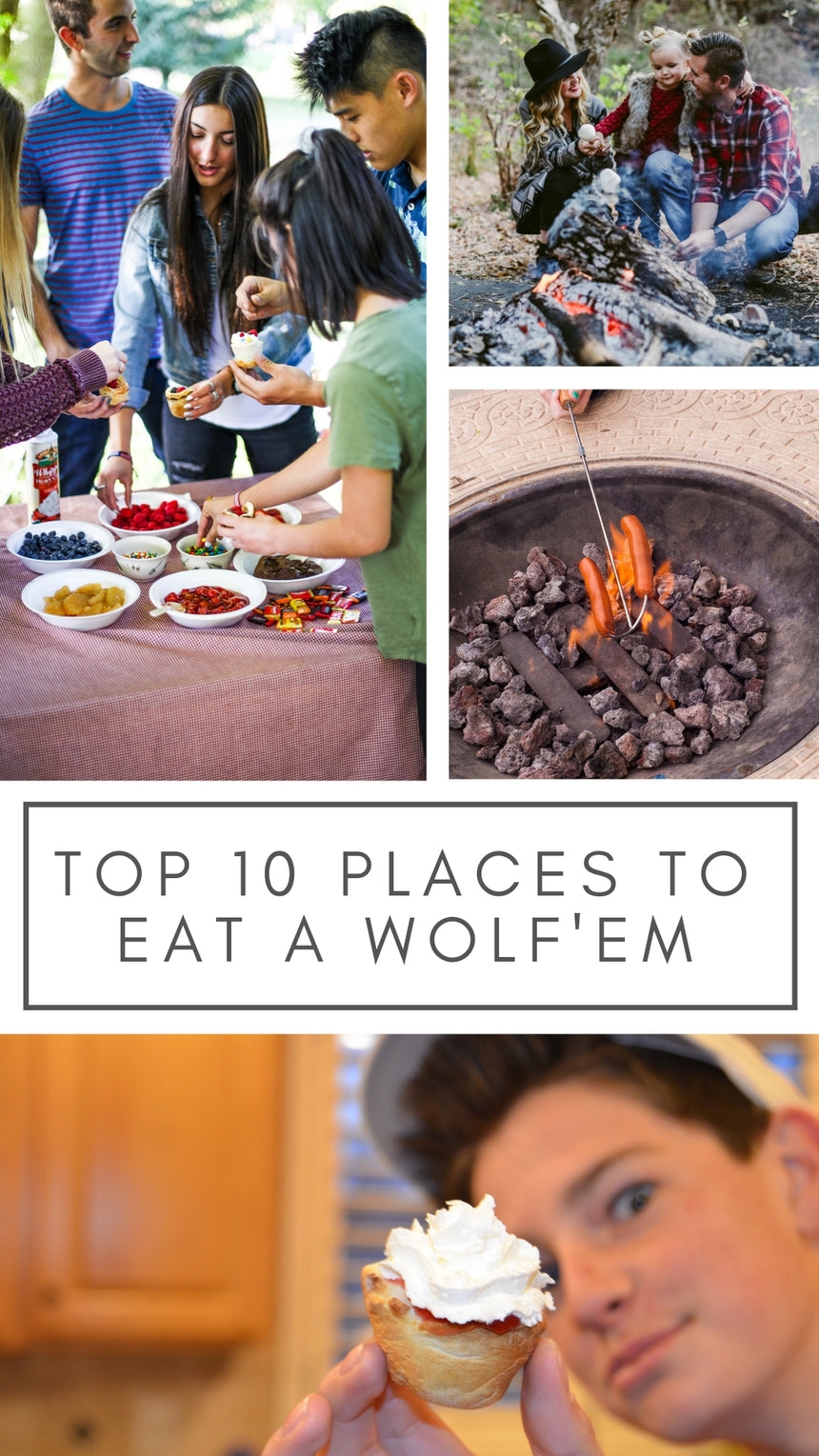 Top 10 places to eat  Wolf'em biscuit cup.