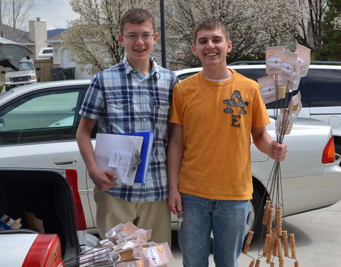 Spencer and Tanner Harrison are the founders of Campfire Industries and made their first 60 Wolf'em Sticks in 2013