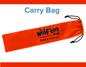 Wolf'em Stick® Carry Bag. Holds up to two sets of Wolf'em Sticks