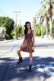 """Courtney"" Vintage 90's Floral Grunge/Boho Dress"