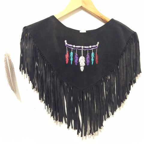 Little Feather-- Suede Collar or Bolero
