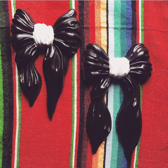 Black Bows--(Re-worked vintage)