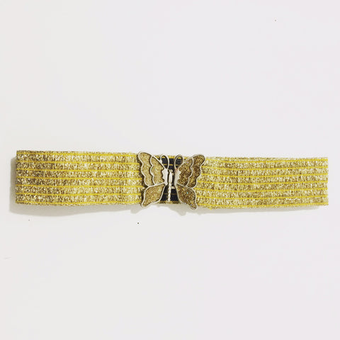The Gold Butterfly-- Vintage Stretch Belt