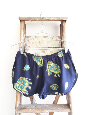 """One Track Mind"" Track Short in ""Baarat Elephant"" print (Limited Edition)"