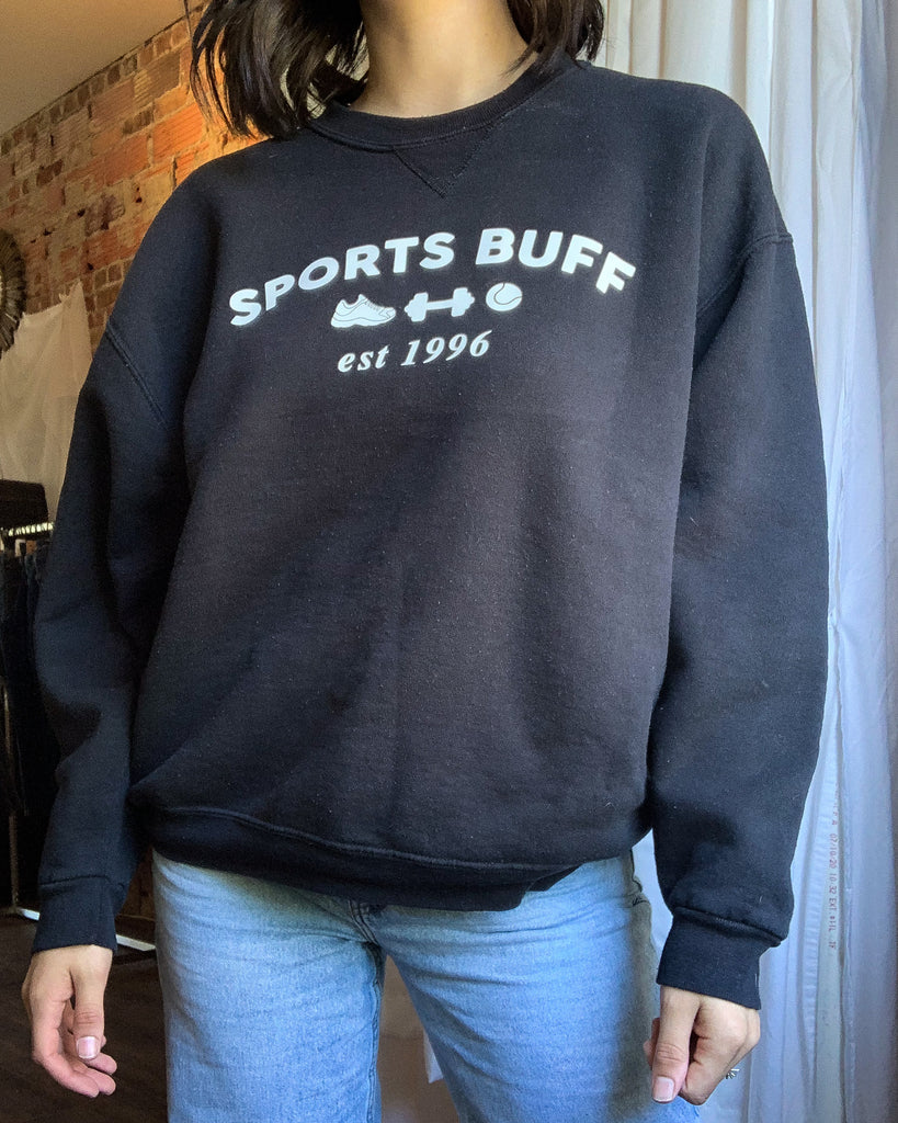 Black Sports Buff Sweatshirt