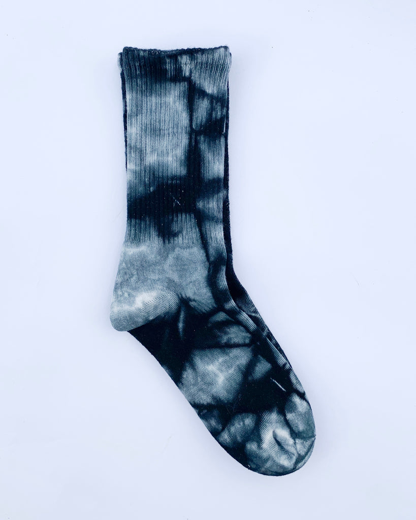 Darkest Midnight Tie Dye Socks