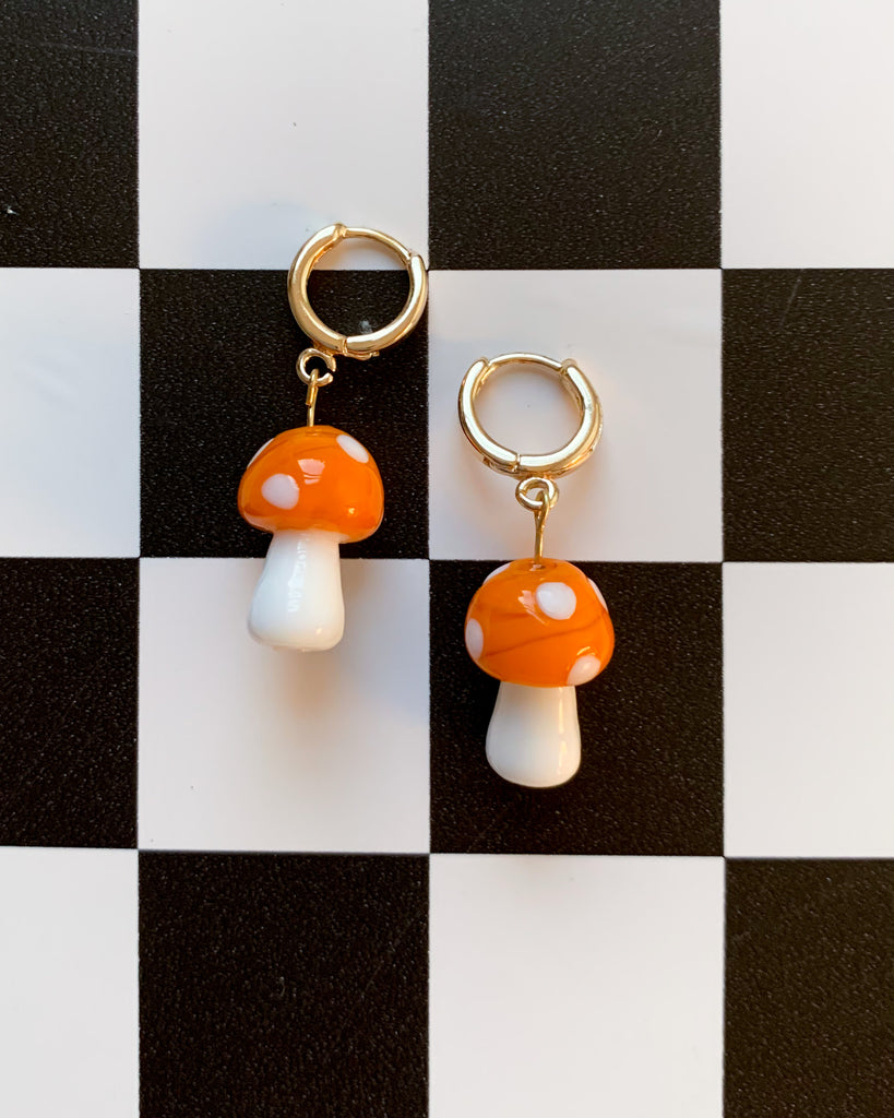 Under the Mushroom Huggie Hoop Earrings