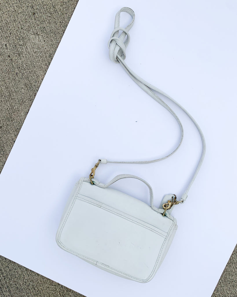 Vintage White Leather Coach Crossbody