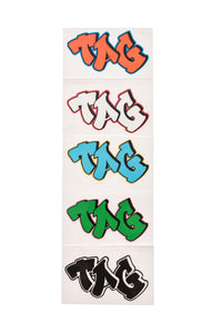 "TAG - 2.00"" x 3.00"" Graffiti Label Sticker (5 Pack)"
