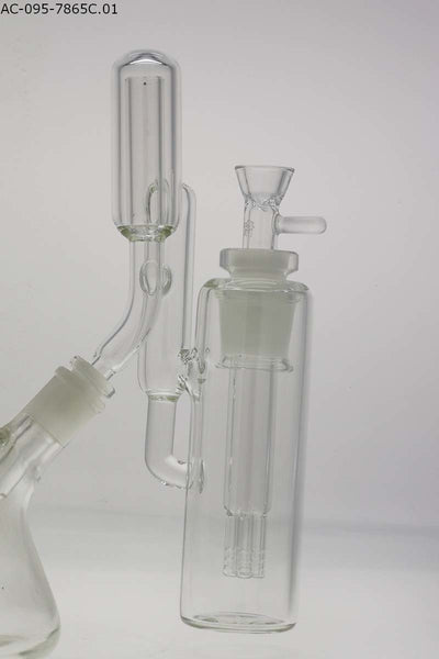 "TAG - 45 Degree Removable Downstem 28/18MM 7-Arm (4.25"") with Jet Pack Water Stopper Ash Catcher (14MM Male to 18MM Female)"