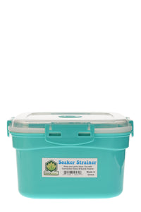 "CannaClean - 4.5"" Deep Bucket Soaker Strainer w/ Built in Removable Strainer and Locking Lid"