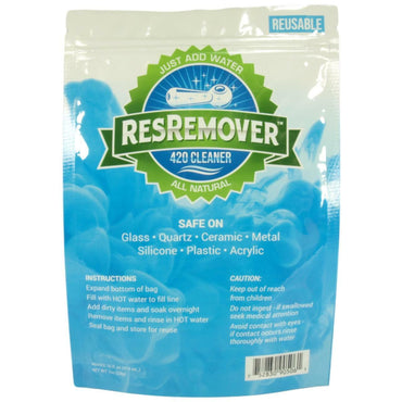 ResRemover - 420 Cleaner Bag All Natural (Just Add Water) Reusable - 1oz (Makes 16oz)