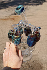 "TAG - 8"" Super Slit Donut Sextuple Recycler - 14MM Female"