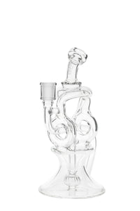 "TAG - 8.75"" Twin Arm Super Slit Donut Wormhole Recycler w/ Bellow Base (14MM Female)"