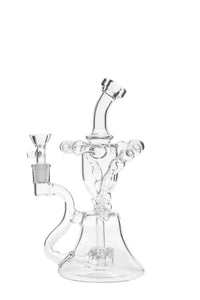 "TAG - 10"" Stacked Helical Ball Dual Arm Recycler 50x5MM (14MM Female)"