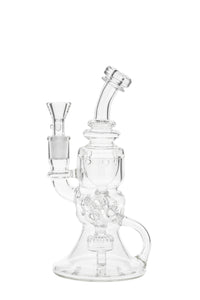 "*SALE* - TAG - 8.5"" Faberge Egg Klein Incycler With Bellow Base - 14MM Female"