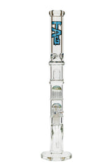 "TAG - 21"" Worked Fixed Double 12 Arm Tree Straight Tube 50x7MM - 18/14MM Downstem (4.00"")"