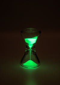 "TAG - 3.5"" Hour Glass with Glow in the Dark Sand"