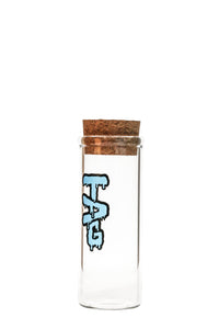 "TAG - 8"" Glass Jar w/ Cork Top (75x5MM)"