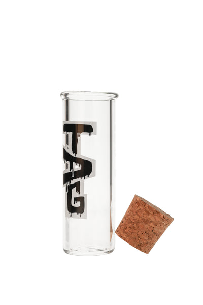 "TAG - 6"" Glass Jar w/ Cork Top (50x5MM)"