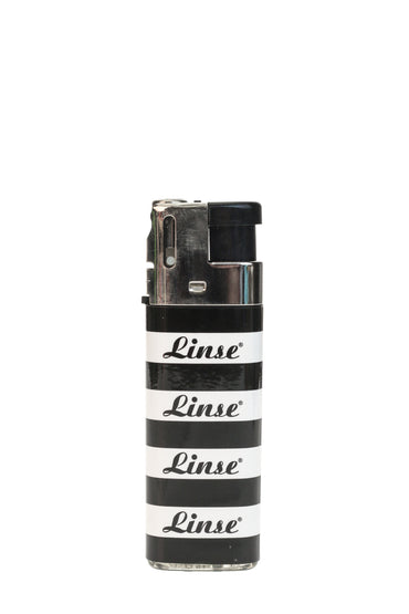 Linse Lighter with Tilting Flame - Black/White