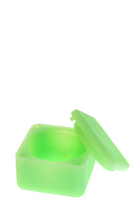 "2.25"" x 2.25"" Square Silicone Container (Large) - Glow in the Dark"