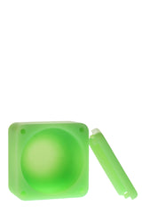 "2.25"" x 2.25"" Square Silicone Container - Extra Large - Glow in the Dark"