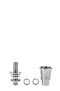 TAG - Multi-Fitting Domeless Titanium Nail With Removable Quartz Dish 28.5MM Diameter (Fits Flat E-nail Coils)