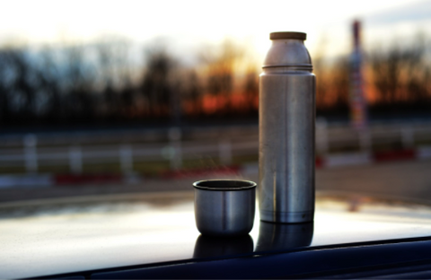 Reusable stainless steel coffee thermos