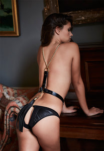 NINA Leather belt with harness chain