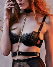 Load image into Gallery viewer, NINA Leather belt with collar and chain