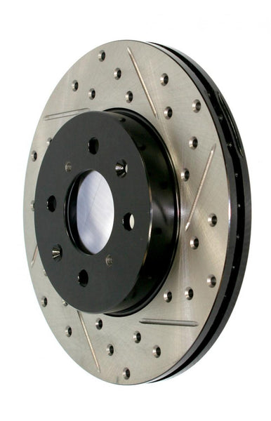 StopTech Sport Cryo Drilled/Slotted Brake Rotor; Front Left Front Left - 4x4 Runners