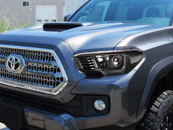 BLACKED OUT HEADLIGHTS - Toyota Tacoma 3rd Gen 2016-2020 - 4x4 Runners