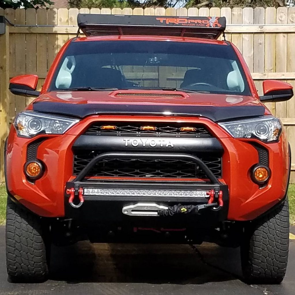 SLIMLINE HYBRID FRONT BUMPER WITH 30″ HEISE LED - TOYOTA 4RUNNER 5TH GEN 2014-2020 - 4x4 Runners