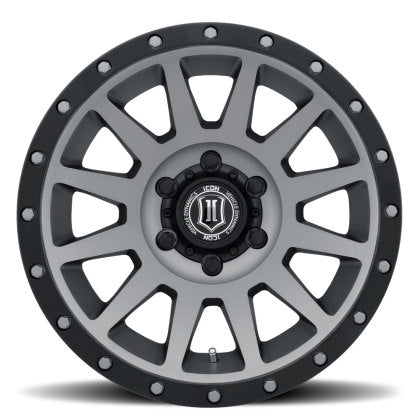 "ICON - ALLOYS COMPRESSION TITANIUM - 17 X 8.5 / 6 X 5.5 / 0MM / 4.75"" BS - 4x4 Runners"
