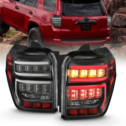 Anzo - BLACK HOUSING CLEAR LENS RED LIGHT BAR W/SEQUENTIAL - Toyota 4Runner 5th Gen 2014-2021 - 4x4 Runners