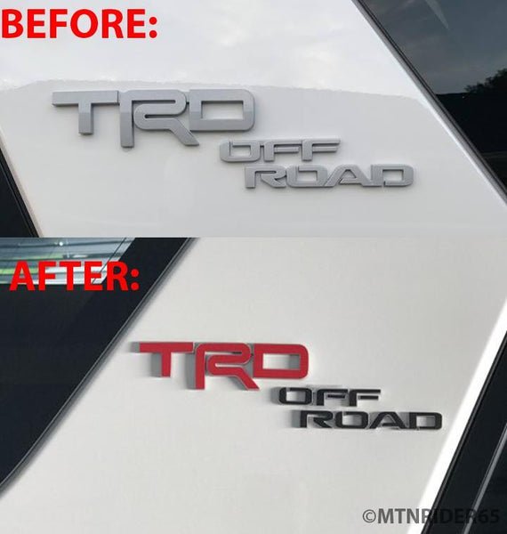 Premium Cast Vinyl Decals for 2017-2020 4Runner TRD OFF ROAD C-Pillar - 4x4 Runners