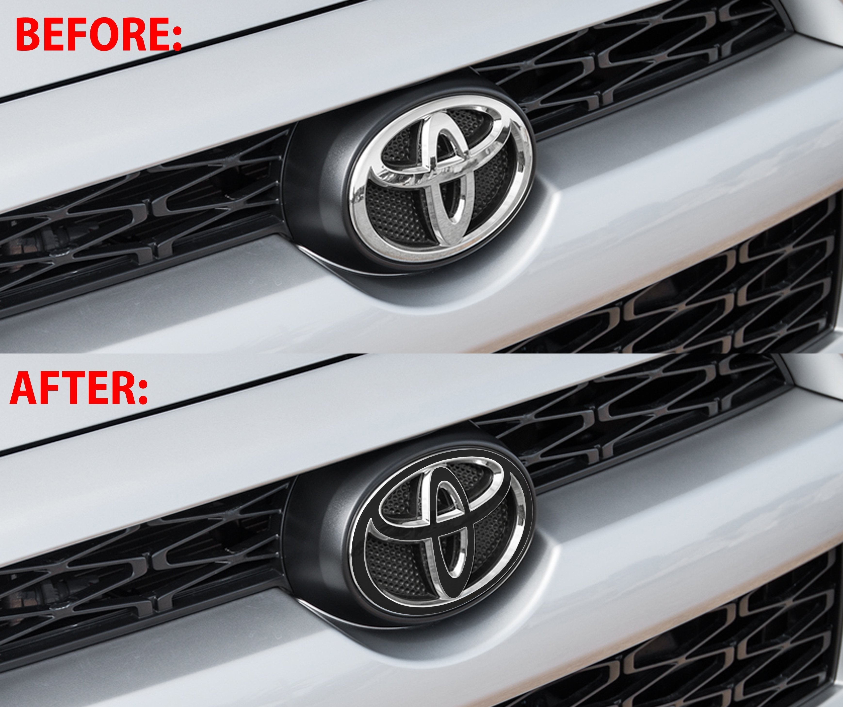Premium Cast Vinyl Grille Logo Inlay Decals for 2010-2020 4Runner - TVD Vinyl Decals