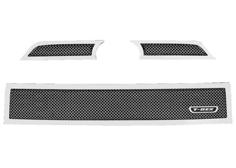 Grille, Polished, 3 Pc, Overlay - TOYOTA 4RUNNER 5TH GEN 2014-2019 - 4x4 Runners