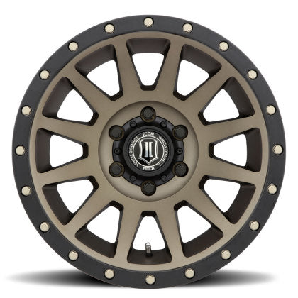"ICON - ALLOYS COMPRESSION BRONZE - 17 X 8.5 / 6 X 5.5 / 0MM / 4.75"" BS - 4x4 Runners"